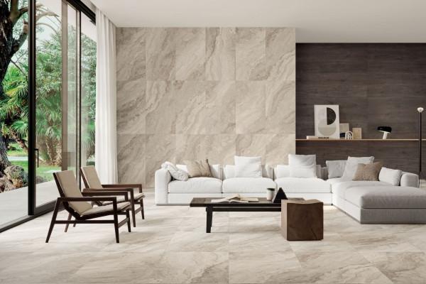 Fliese Marmor-Optik beige marmoriert matt Mystic Beige Sant Agostino