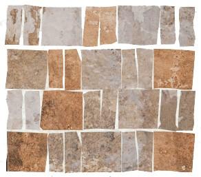 "Mosaik Fliese Cotto rot-braun Vintage Retro ""CIR Havana Cohiba 30x30"""