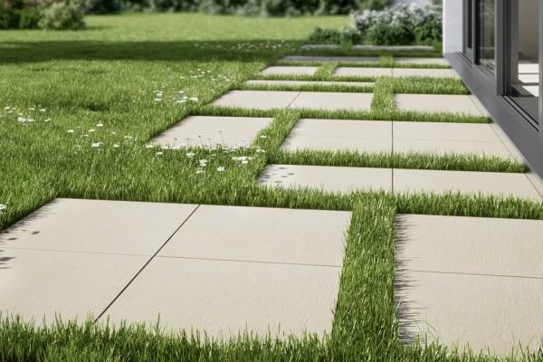 Terrassenplatten Naturstein-Optik Sand 60x60x2cm Feinsteinzeug