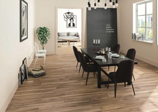 Fliese Holzoptik Nussbaum günstig Großformat Wohnzimmer 30x120 \