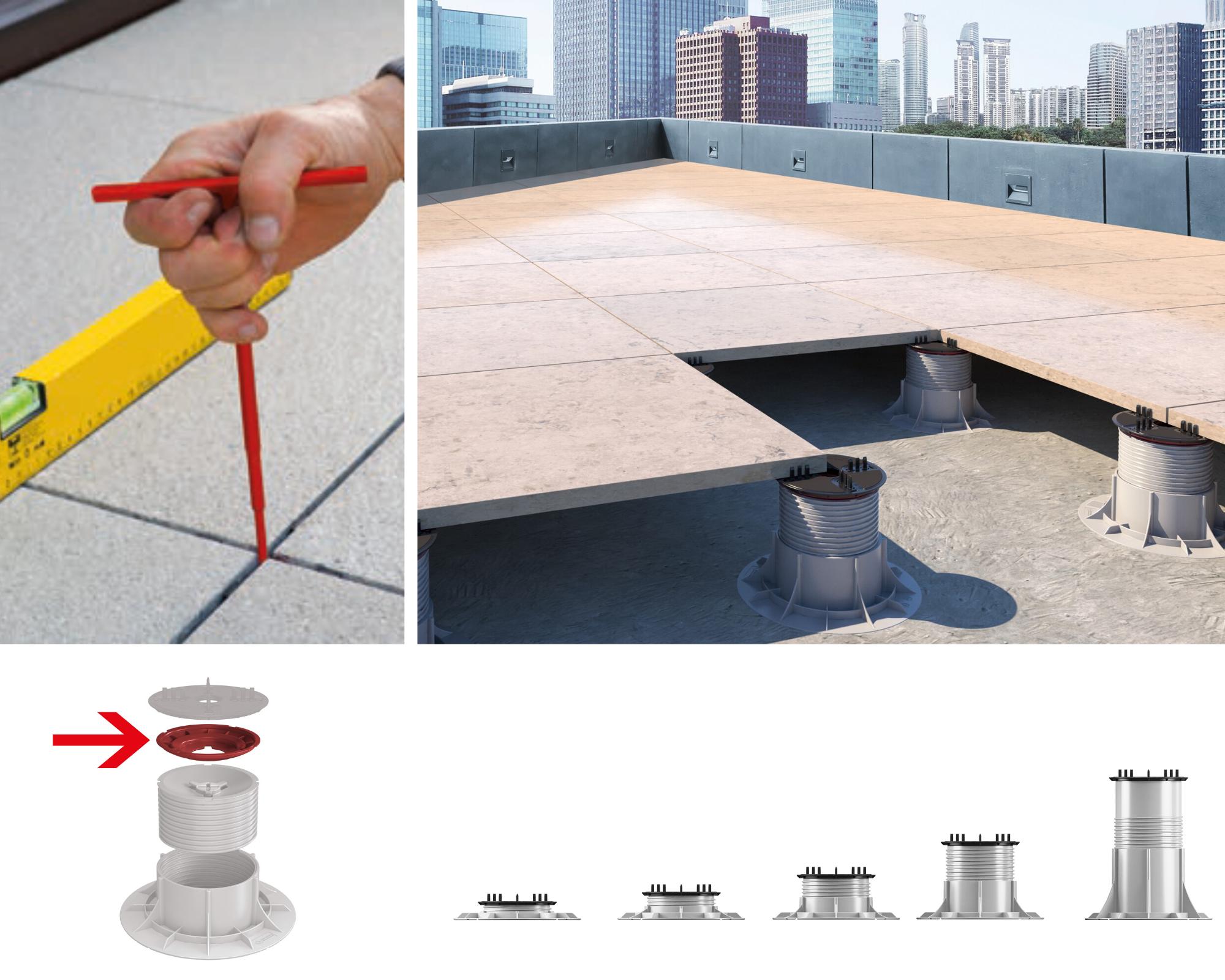 Terrassenplatten komfortabel verlegen mit Stelzlager   Fliesen ...