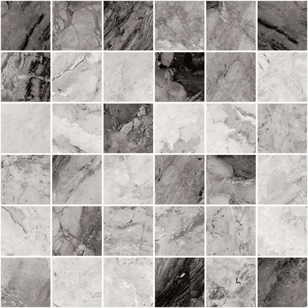 "Mosaik Marmor-Optik schwarz-anthrazit marmoriert matt 30x30cm ""Mystic Dark"" Sant Agostino"