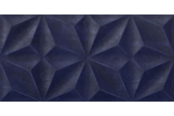 "Wandfliese ""Valu"" von Kerateam / Steuler in Blau mit 3D Optik"