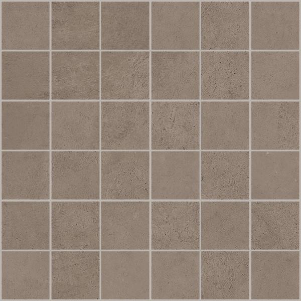 """Mosaik Fliese Betonoptik braun 30x30 """"Ritual Brown Mosaik"""" Sant Agostino"""