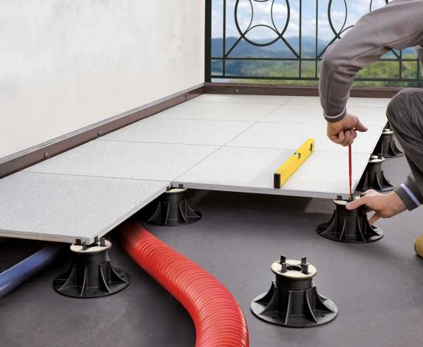Stelzlager Terrassenplatten höhenverstellbar & selbstausgleichend Höhe 37-50mm